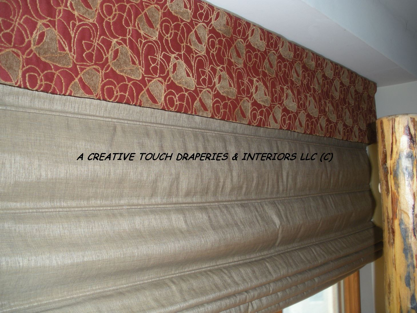Roman Shade with blackout lining