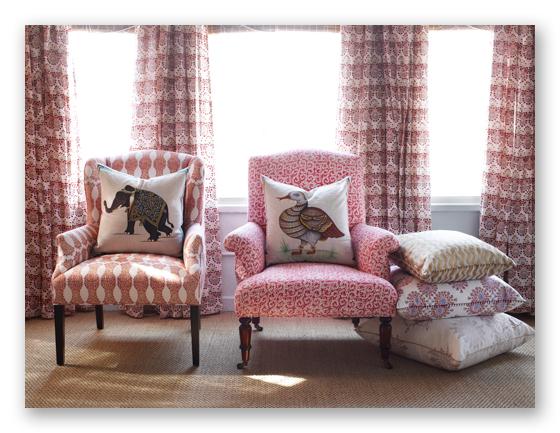 Designer Fabrics for custom Bedding and Pillows