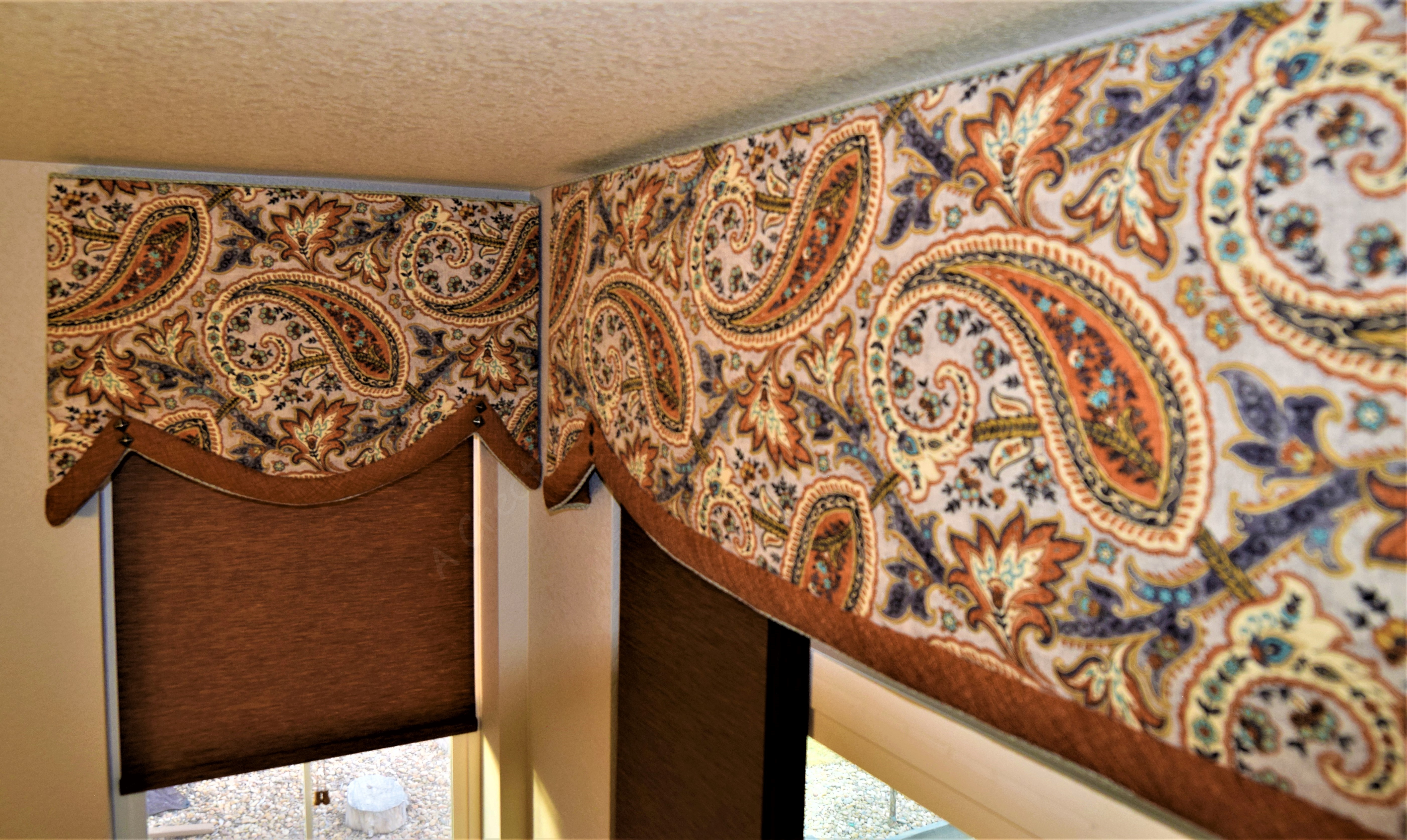 Curved bottom Cornice Valances Add charm and character to boring decor in new home