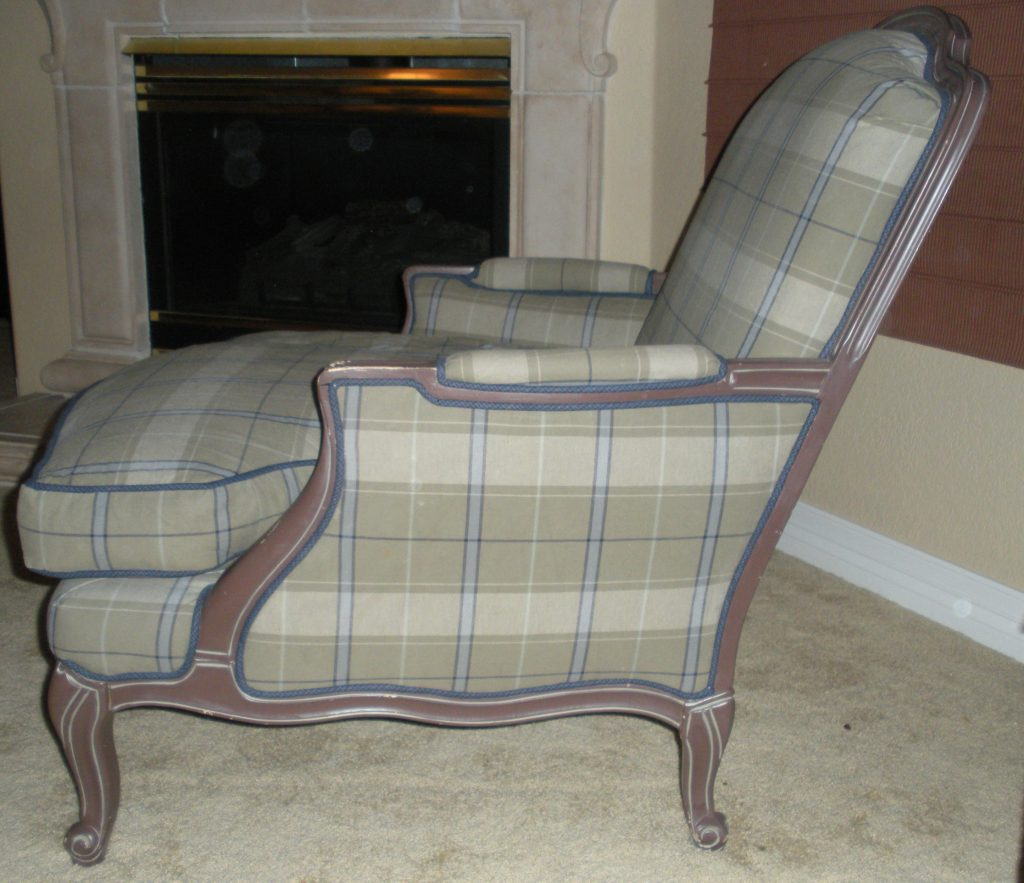 Chair image before upholstery updates
