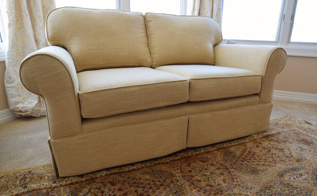 Love Seat After Upholstery Services